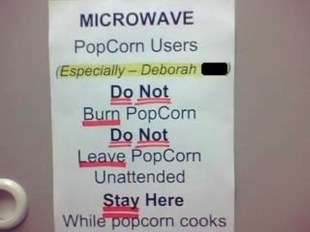 Retail Hell Underground Breakroom Sign For Popcorn Users