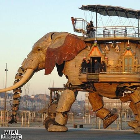 Robotic elephant for 50