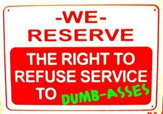 Dumbass refuse service