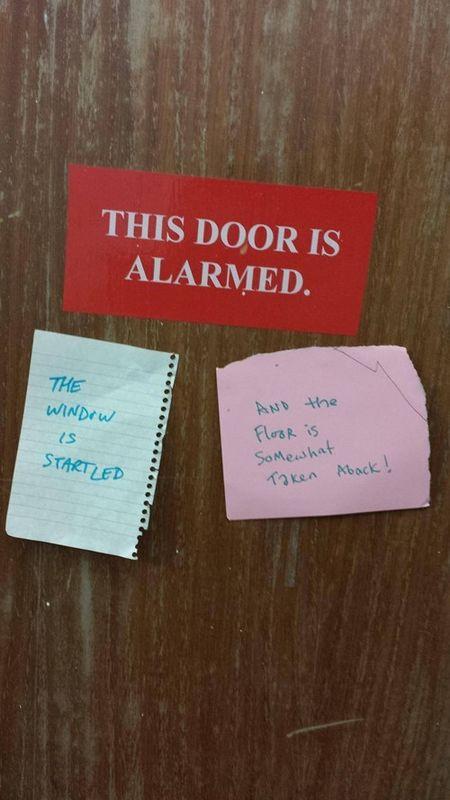 Alarmed