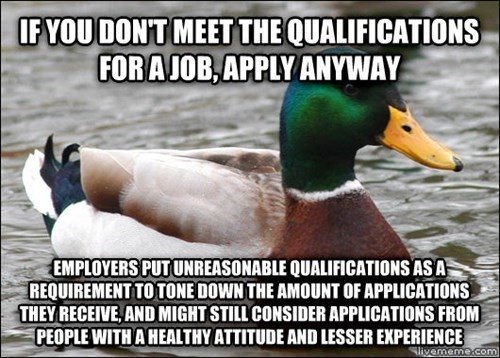 Retail Hell Underground The Good Advice Duck On Job Qualifications