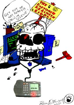 Call center skull