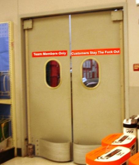 Stock Room Doors : Retail hell underground backroom doorbusting customers