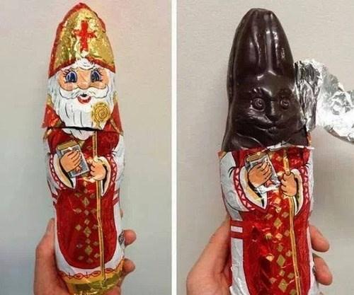 Image result for chocolate santa looks like dick