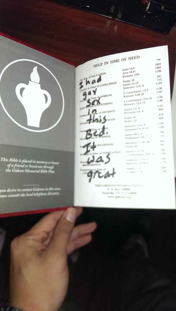 Retail Hell Underground: Hotel Worker Finds Gay Message in