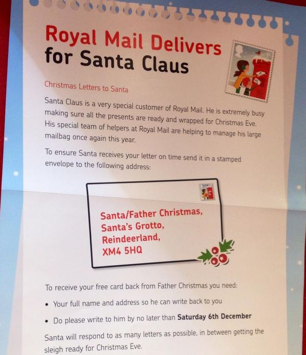 retail hell underground uk royal mail signage on delivering letters to santa
