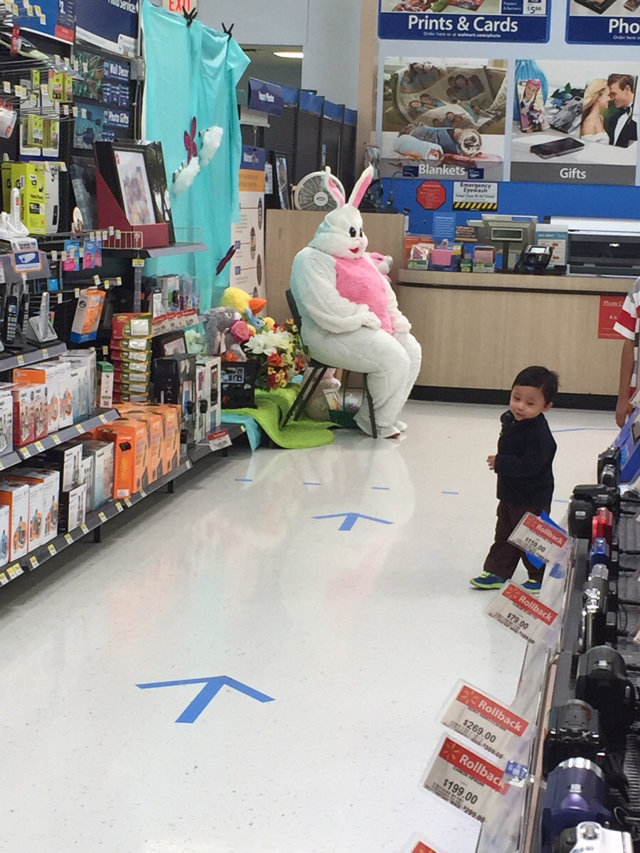 Retail hell underground the walmart easter bunny waits for his bunny negle Gallery