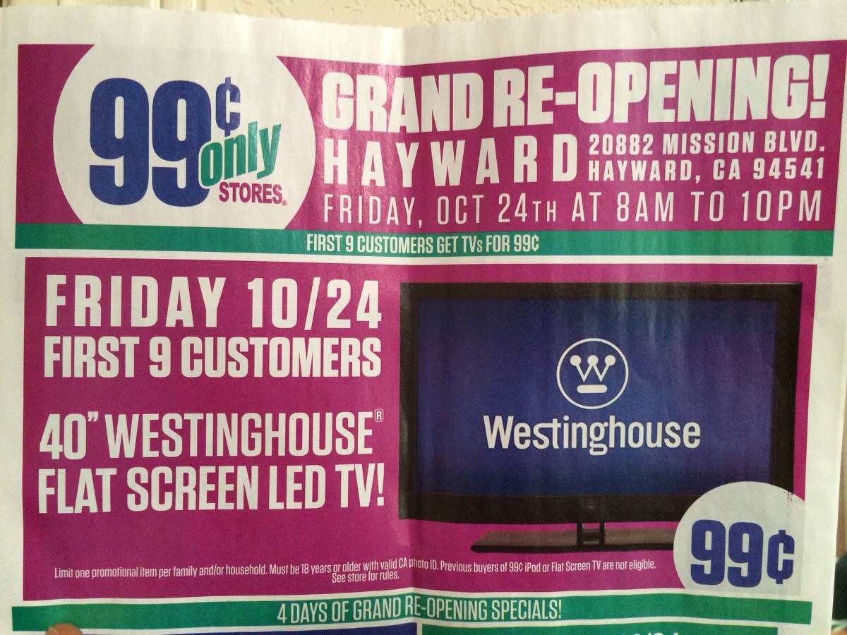 Retail Hell Underground 99 Cents Only Store Grand Re Opening