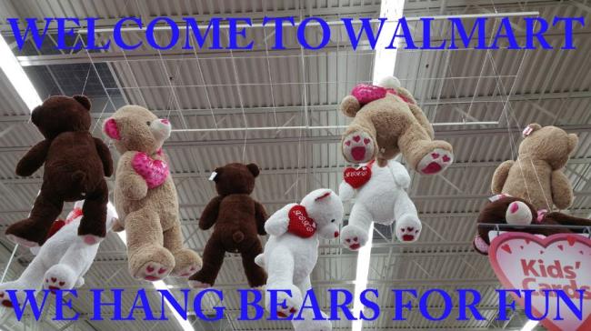 Walmart Valentineu0027s Day Bear Display Fail. Bears
